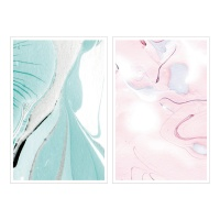 Miccudo 프린트-온 스티커 (3.Blue&Pink marble)