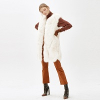 JINNY faux fur vest_white