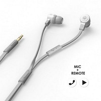 에어로폰 마이크/리모트기능 플랫케이블 이어폰 - MQGT26[그레이]