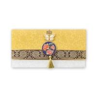 035-ME-0051 / 노랑 금빛 자수 축하봉투