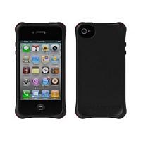 [충격완벽보호 볼리스틱 케이스] BALLISTIC Shell Ballistic LS iPHONE 4. with TPU 4 Bumpers (Black) [완벽하게 스마트폰 보호 소재]