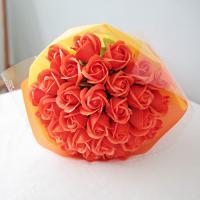 비누장미 30송이 꽃다발-오렌지