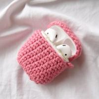 핑크 에어팟 손뜨개 케이스