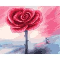 DIY 명화그리기키트 - 장미 나무 40x50cm (물감2배, 컬러캔버스, 명화, 풍경화, 꽃, 장미, 나무, 자연)