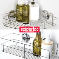 [굿센스] 스파이더락 욕실선반 2종세트 C형(400+코너)