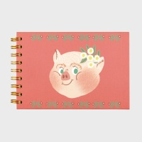 Piggy with Flower Sketch Book