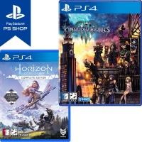 PS4 킹덤하츠 3 + 호라이즌 제로던 컴플리트 (더블팩)
