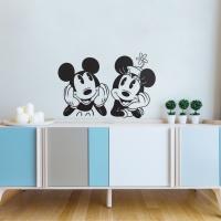 디즈니 키덜트 씽크미키 현대시트 그래픽 스티커