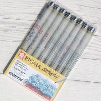 사쿠라 피그마 0.5mm 브러쉬/붓펜 8색세트 BR