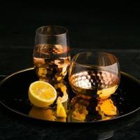 빈티지 로즈골드 와인잔 1개