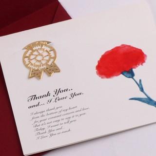 감사의 카네이션 - 18k금장 책갈피카드