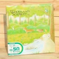 [Nakabayashi] 숲속 수채화 풍경의 나사식 대형 접착앨범..일본 나카바야시 Woodland Scenery 25L-16 HF401