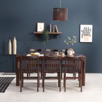 휴치 고무나무 원목 식탁 세트 6인용 의자형 B