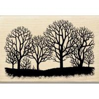 우드스탬프 - TREES SILHOUETTE 45