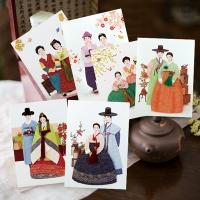 카드/축하카드/감사카드/연하장 천재일우 한복카드세트 FT224 Set (6종 한세트)