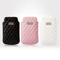 [크루셀] 코코 파우치 L iphone4/4S 케이스 (다이아몬드 문양 / 가죽 / 다용도고리 / 부드러운 안감)