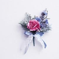 봄봄카네이션 부토니에-블루 (Limited Spring-Carnation 빈티지패션 브로치)