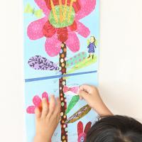 키재기 이부 핫핑크 꽃