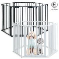 [딩동펫] 애견 육각안전문 울타리 강아지 울타리