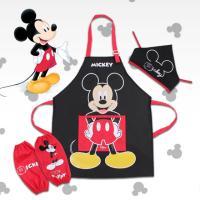 디즈니 어린이 미키마우스 방수 앞치마세트 FREE