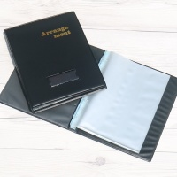 속지추가 가능한 A5-20매..청운그린화일 4공 클리어바인더 HB281
