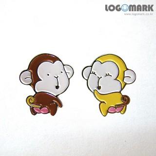원숭이 커플 뱃지