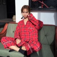 타탄체크 파자마 긴바지 잠옷세트