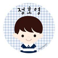 [주문제작]캐릭터원형명찰 남아아이들
