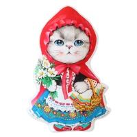 고양이삼촌 쿠션 - 빨간모자 루미