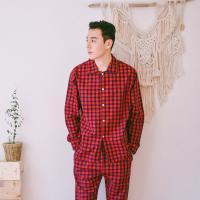 [쿠비카]클래식 슬리피체크 순면 남성잠옷 M083