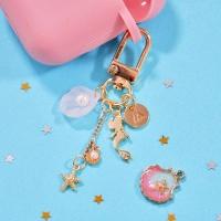 KEY RING- 핑크 쉘 머메이드