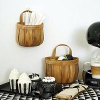 걸이형 대나무 소품 바구니 바스켓 (소형)