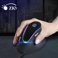 지오 RGB 인체공학 버티컬 유선 마우스 ZIO-i980