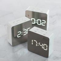 플라이토 미러 정사각 LCD 탁상시계 JS-i18