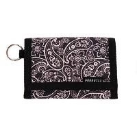 Velcro wallet black paisley