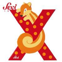 [SEVI] 한정특가 세비 원목 동물 알파벳X(81624)_다람쥐