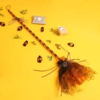 트윙클 마녀 빗자루-오렌지