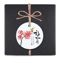 [인디고샵] 한가위 매화꽃 원형 [텍] (10개)