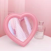 갓샵 핵인싸템! 핑크 하트 거울 셀카 화장대 탁상용