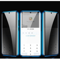 아이폰X XS 마그네틱 사생활보호 투명글라스 풀커버