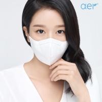 [아에르] 어드밴스드 KF94 마스크 화이트 10매