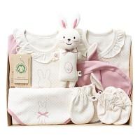 [출산선물 7종세트]오가닉 프리미엄 핑크래빗 신생아 선물세트