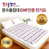 장수돌침대 EMF인증 전기요 물결 더블 JSE-3016