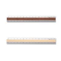 Aluminium and Wood Ruler <15cm>