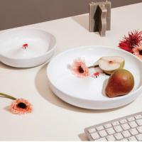 온나 아트 디저트 접시 샐러드볼 그릇(대형)