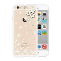 [SG DESIGN] iPhone6/6S SG Lighting Clear Hand-made Case - Clear Cherry Blossoms(Swarovski)