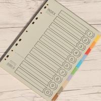 10분류x5세트/팩.. BiGPROS A4 종이 화일 인덱스지 i310
