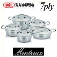 한일 몬트렉스(MONTREUX) 7PLY(7중구조)냄비 5종SET(10PCS)-백화점판매용