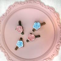 도자기 벚꽃 수저받침