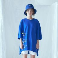사이드 포켓 박스 티셔츠 (블루)